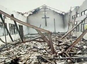 Nigeria chiesa distrutta
